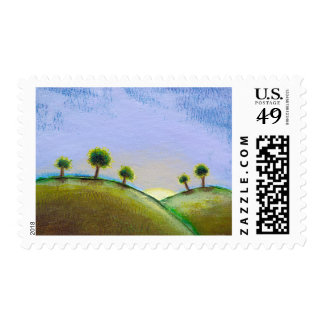 Titled:  What Seekers Find - glorious landscape Postage Stamp