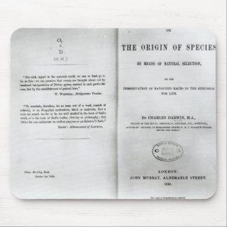 Titlepage a 'en el origen de las especies mousepads