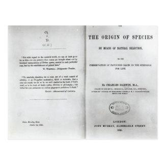Titlepage a 'en el origen de las especies postal