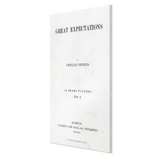 Titlepage a las granes expectaciones de Charles Impresión En Lienzo