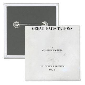 Titlepage a las granes expectaciones de Charles Pin Cuadrado