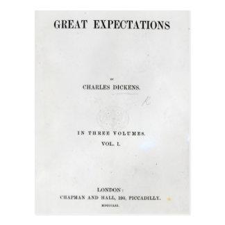 Titlepage a las granes expectaciones de Charles Postal