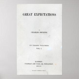 Titlepage a las granes expectaciones de Charles Póster