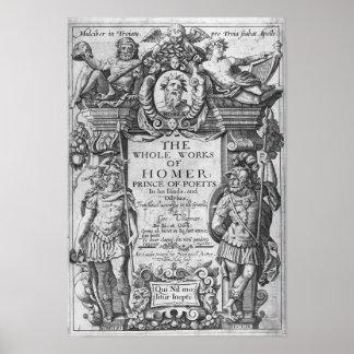 Titlepage 'a los trabajos del conjunto de Homer Póster