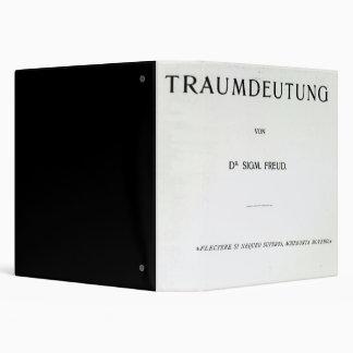"Titlepage a morir Traumdeutung de Sigmund Freud Carpeta 1 1/2"""