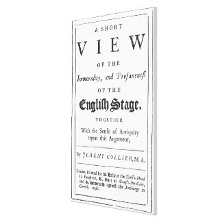 Titlepage bordered by a chronological series canvas print