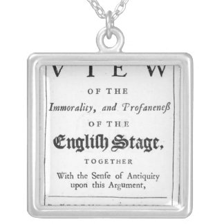 Titlepage bordered by a chronological series silver plated necklace