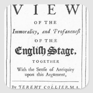 Titlepage confinó por una serie cronológica pegatina cuadrada