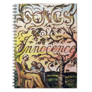 Titlepage de 'canciones de la inocencia y de Exper Libretas