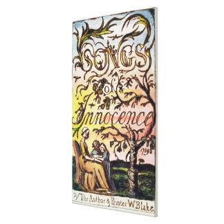 Titlepage de 'canciones de la inocencia y de Exper Impresión En Lona Estirada