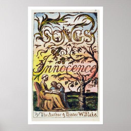 Titlepage de 'canciones de la inocencia y de Exper Poster