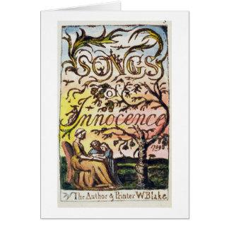 Titlepage de 'canciones de la inocencia y de Exper Tarjeta De Felicitación