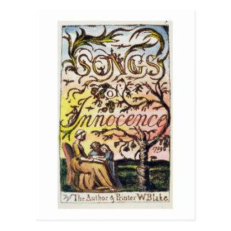 Titlepage de 'canciones de la inocencia y de tarjetas postales