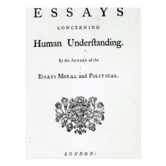 Titlepage de 'ensayos filosóficos postal