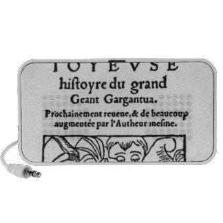 "Titlepage de ""Gargantua"" por Francois Rabelais Altavoces"