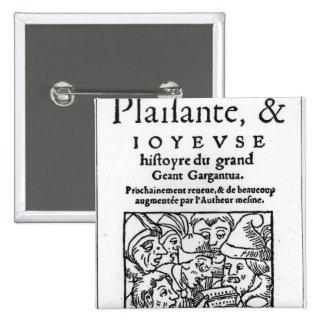 """Titlepage de """"Gargantua"""" por Francois Rabelais Pin Cuadrado"""