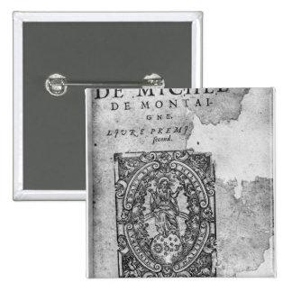 Titlepage de la primera edición de 'Essais Pin Cuadrado