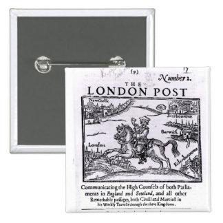 Titlepage 'de las noticias de Londres Pin Cuadrada 5 Cm