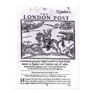 Titlepage 'de las noticias de Londres Postal