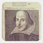 Titlepage de 'Sr. Guillermo Shakespeares Pegatina Cuadrada