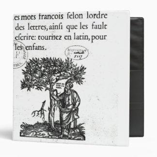 "Titlepage del primer diccionario Francés-Latino Carpeta 1 1/2"""