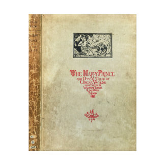 Titlepage 'del príncipe feliz y de otros cuentos impresión en tela