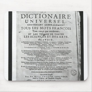 Titlepage   'Dictionnaire Universel' by Mouse Pad