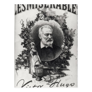 Titlepage first edition of 'Les Miserables' Postcard