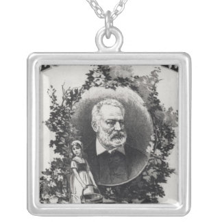 Titlepage first edition of 'Les Miserables' Square Pendant Necklace