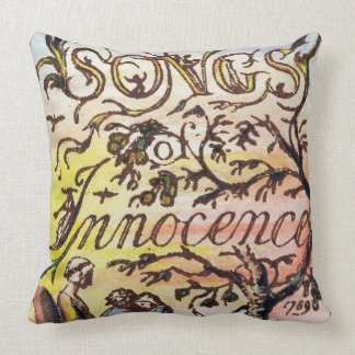 Titlepage from 'Songs of Innocence and of Experien Throw Pillow
