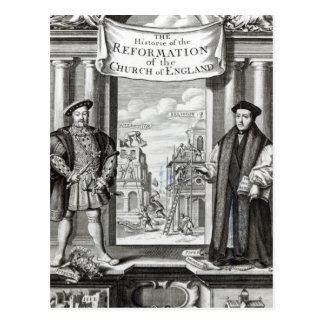 Titlepage la iglesia Inglaterra de la reforma de Postales