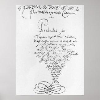Titlepage manuscrito del pozo moderado posters
