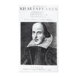 Titlepage, 'Mr. William Shakespeares Canvas Print
