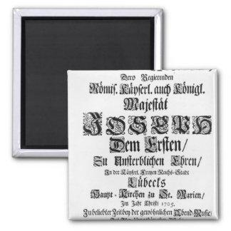 Titlepage of Abendmusik, 1705 Magnet