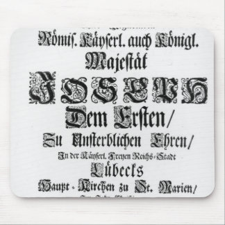 Titlepage of Abendmusik, 1705 Mouse Pad