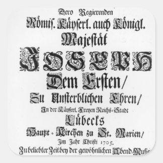 Titlepage of Abendmusik, 1705 Square Sticker