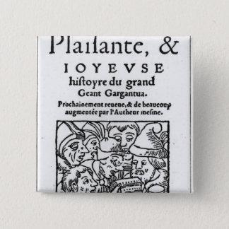 Titlepage of 'Gargantua' by Francois Rabelais Button