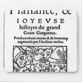 Titlepage of 'Gargantua' by Francois Rabelais Mouse Pad