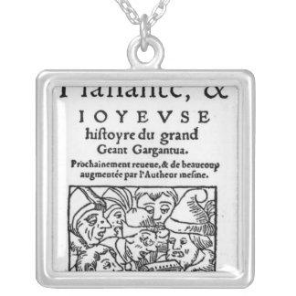 Titlepage of 'Gargantua' by Francois Rabelais Necklace
