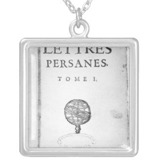 Titlepage of 'Les Lettres Persanes' Personalized Necklace