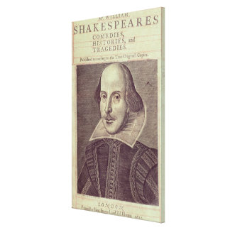 Titlepage of 'Mr. William Shakespeares Gallery Wrap Canvas