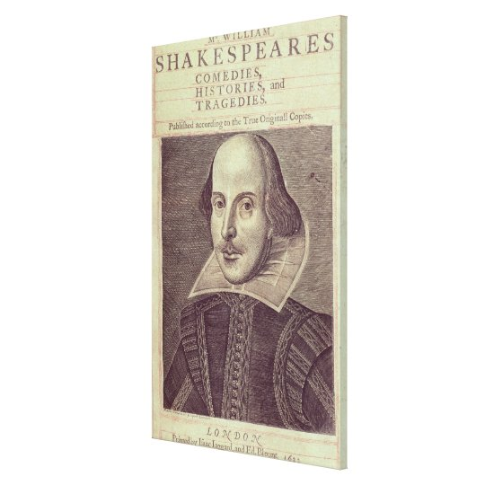 Titlepage of 'Mr. William Shakespeares Canvas Print