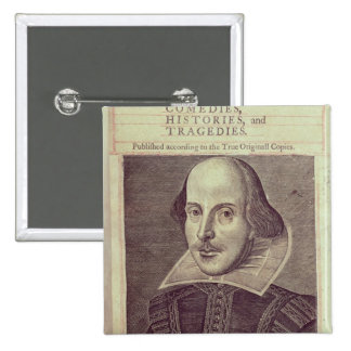 Titlepage of 'Mr. William Shakespeares Pinback Button