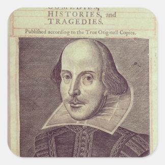 Titlepage of 'Mr. William Shakespeares Square Sticker