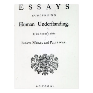 Titlepage of 'Philosophical Essays Postcard