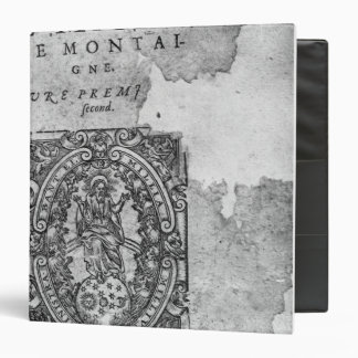 Titlepage of the first edition of 'Essais' Binder