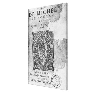 Titlepage of the first edition of 'Essais' Stretched Canvas Print