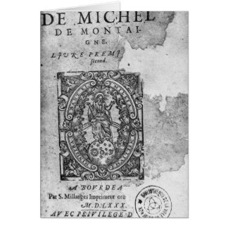 Titlepage of the first edition of 'Essais' Cards