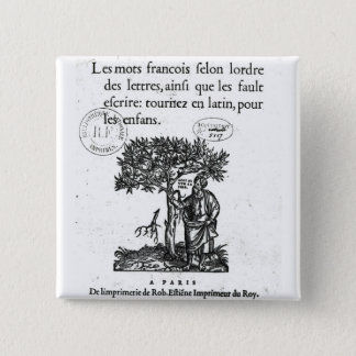 Titlepage of the first French-Latin dictionary Button