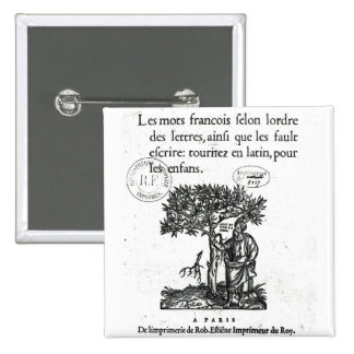 Titlepage of the first French-Latin dictionary Pinback Button